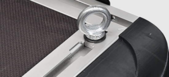 Mountain Top Cargo Slide with eye bolts to secure your cargo